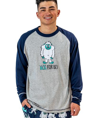 Lazy One Men's Yeti for Bed Pajama Shirt