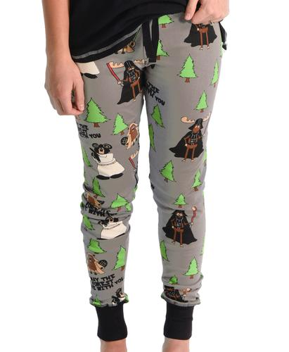 Lazy One Women's May The Forest Be With You Pajama Pants
