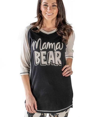 Lazy One Women's Mama Bear Pajama Shirt
