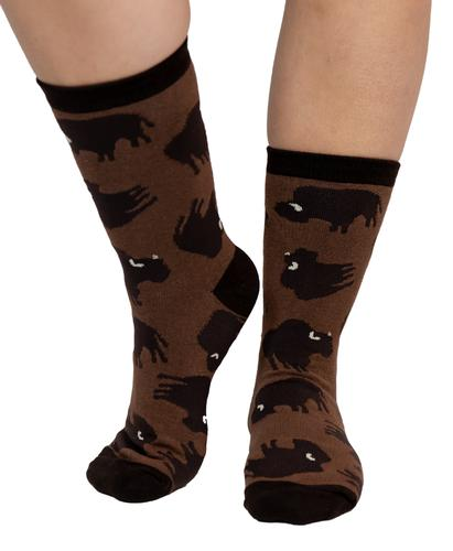 Lazy One Adult Buffalo Crew Socks