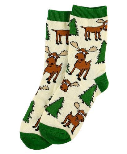 Lazy One Kids' Green Moose Hug Sock