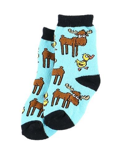 Lazy One Infants' Duck Duck Moose Blue Socks