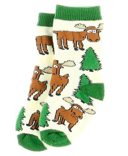 Lazy One Infants' Moose Hug Green Socks