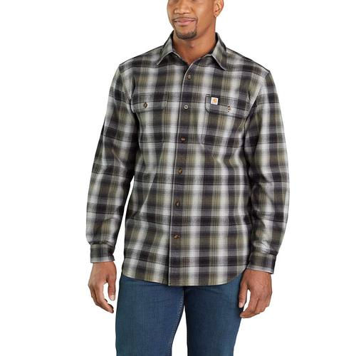 Carhartt Men's Hubbard Plaid Flannel Shirt Big and Tall