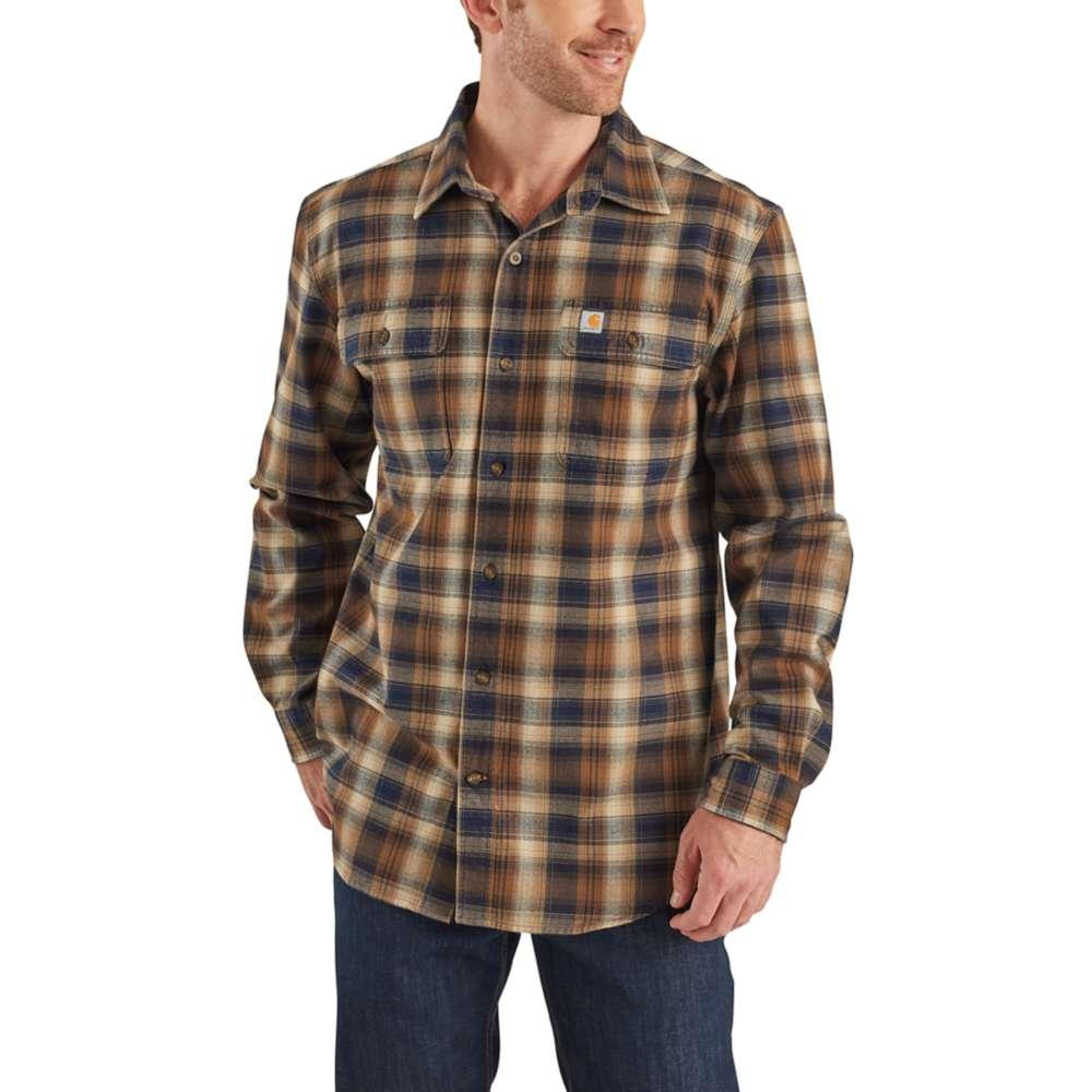 recognized brands latest discount fashion style Kenco Outfitters | Carhartt Men's Hubbard Plaid Flannel Shirt Big And Tall