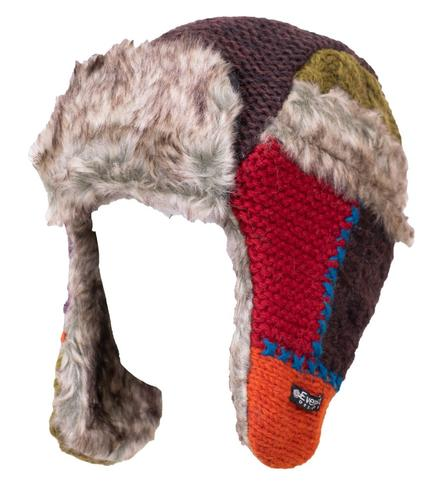 Everest Designs Patchwork Fur Hat