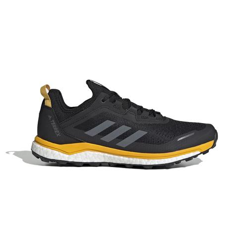 Adidas Men's Terrex Agravic Flow Trail Running Shoe Black and Gold