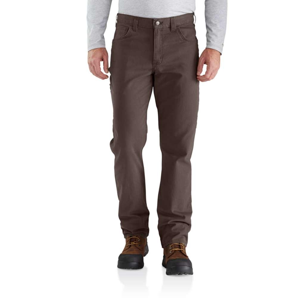 Carhartt Men's Rugged Flex Rigby 5 Pocket Work Pant DARKCOFFEE