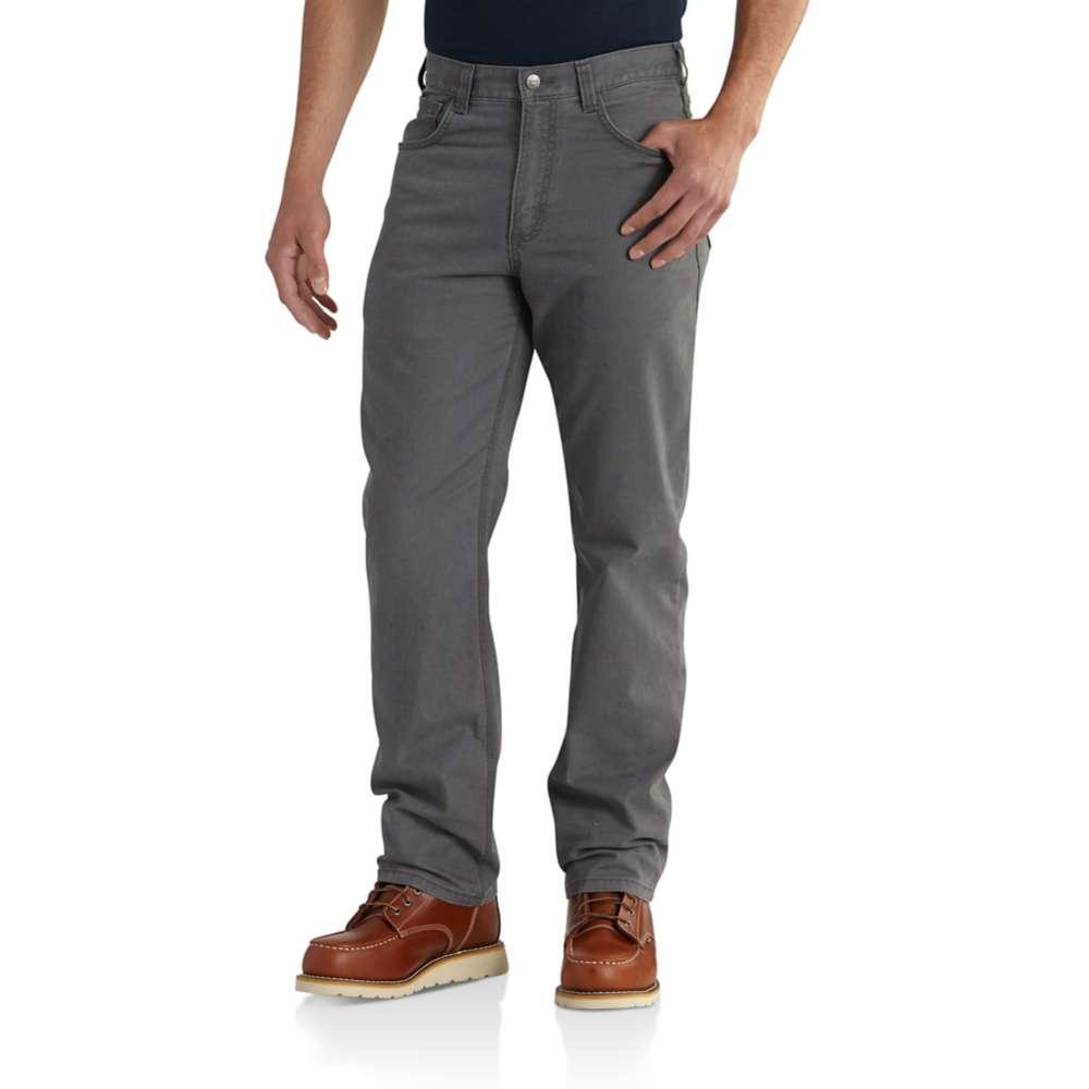 Carhartt Men's Rugged Flex Rigby 5 Pocket Work Pant GRAVEL