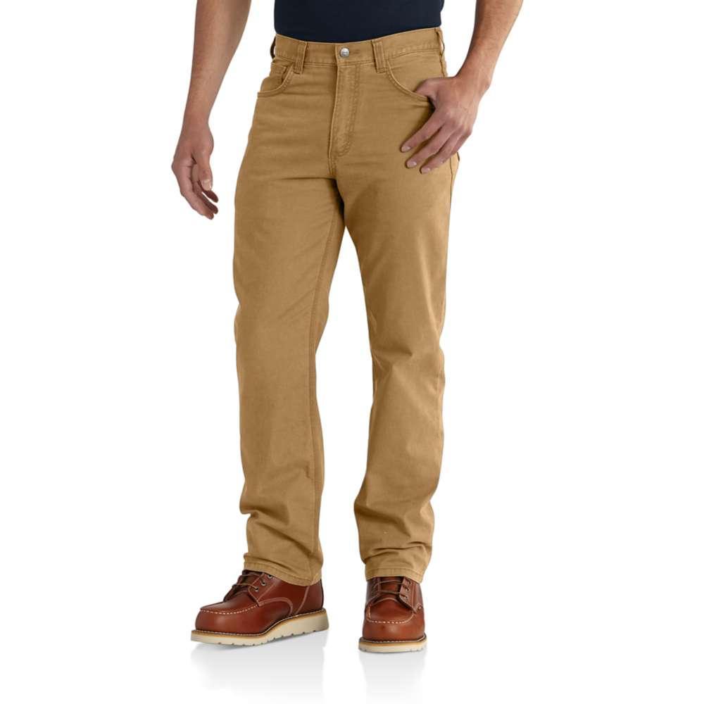 Carhartt Men's Rugged Flex Rigby 5 Pocket Work Pant HICKORY