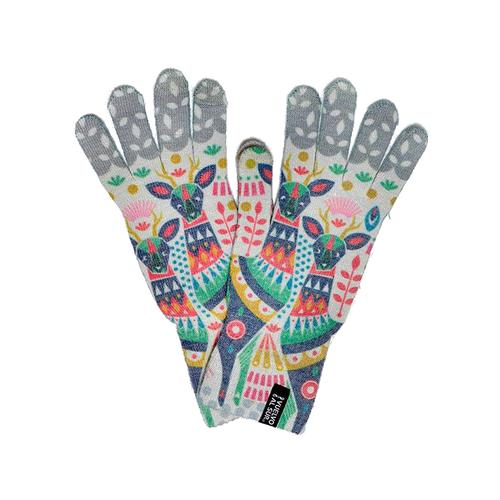 Vuelvo Al Sur Printed Wool Gloves with Touch Screen Compatibility