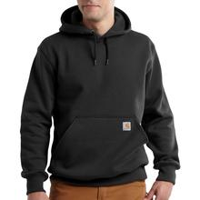 Carhartt Men's Rain Defender Paxton Heavyweight Hooded Zip Front Sweatshirt Tall Sizes BLACK