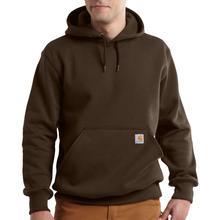 Carhartt Men's Rain Defender Paxton Heavyweight Hooded Zip Front Sweatshirt Tall Sizes DARK_BROWN