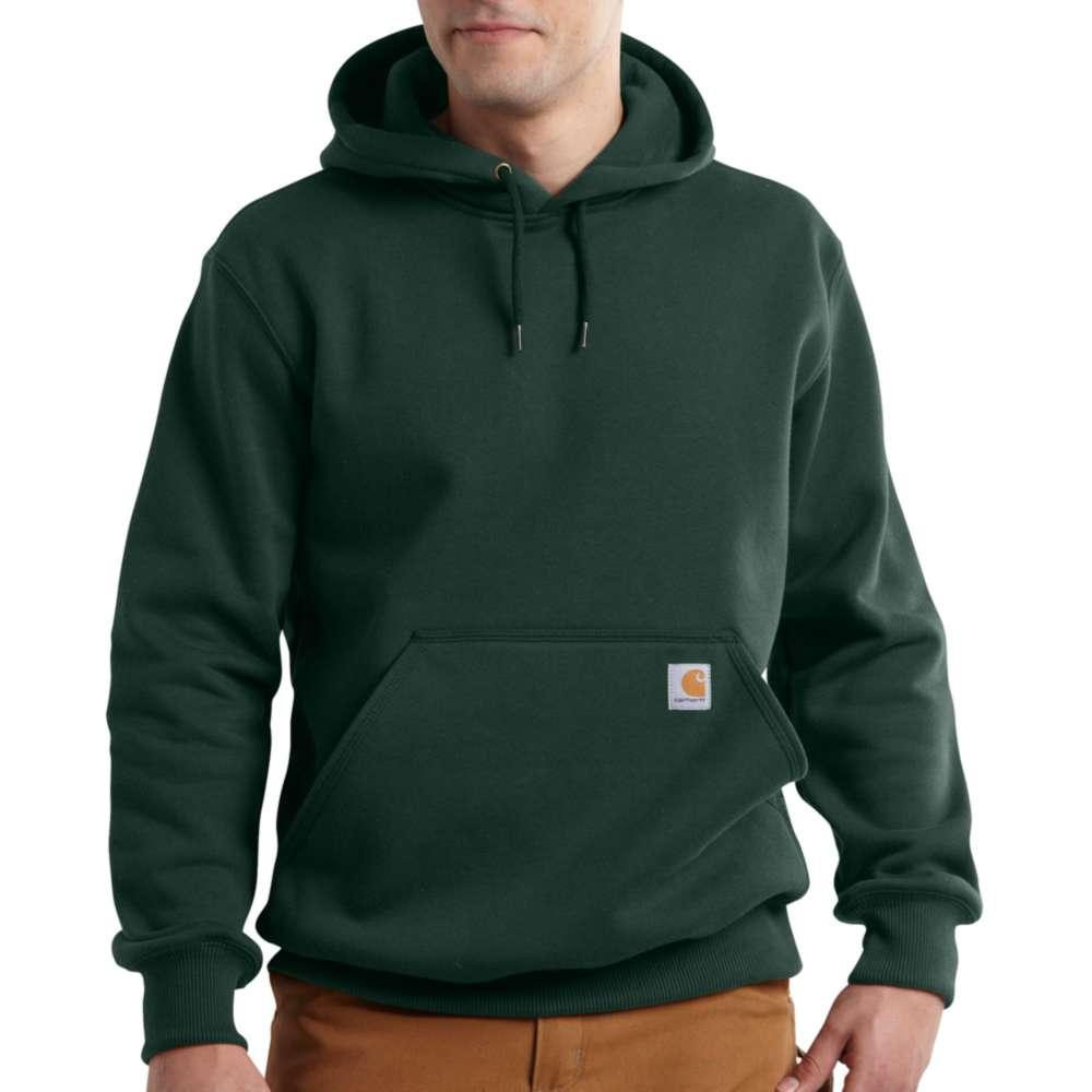 Carhartt Men's Rain Defender Paxton Heavyweight Hooded Zip Front Sweatshirt Tall Sizes DARK_GREEN
