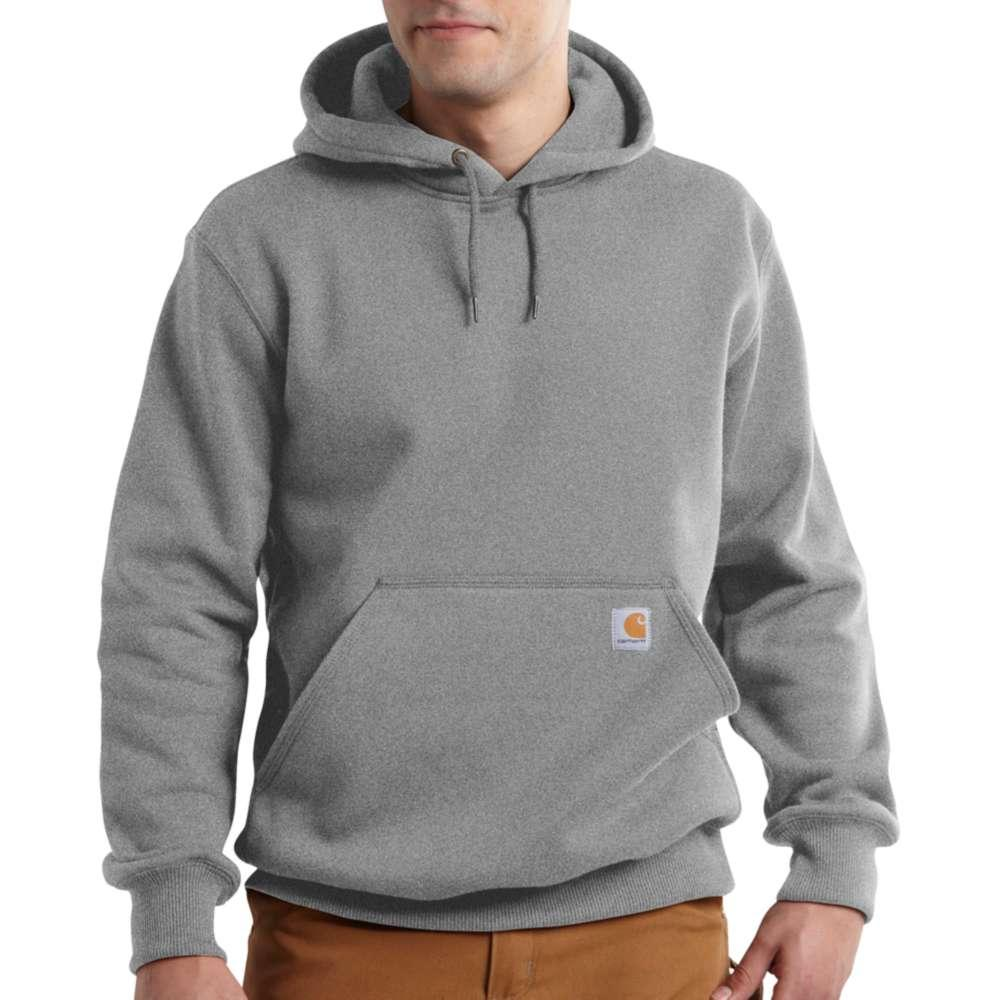 Carhartt Men's Rain Defender Paxton Heavyweight Hooded Zip Front Sweatshirt Tall Sizes HEATHER_GREY