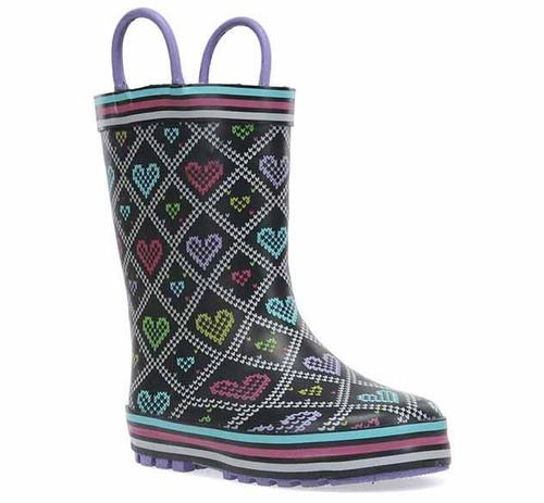 Western Chief Kid's Quilted Hearts Rain Boot