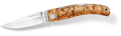 Castillo Navaja Folding Knife With Curly Birch Handle
