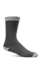 Sockwell Men's Easy Does It Relaxed Fit Diabetic Socks BLACK