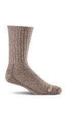 Sockwell Men's Big Easy Relaxed Fit Diabetic Sock ESPRESSO