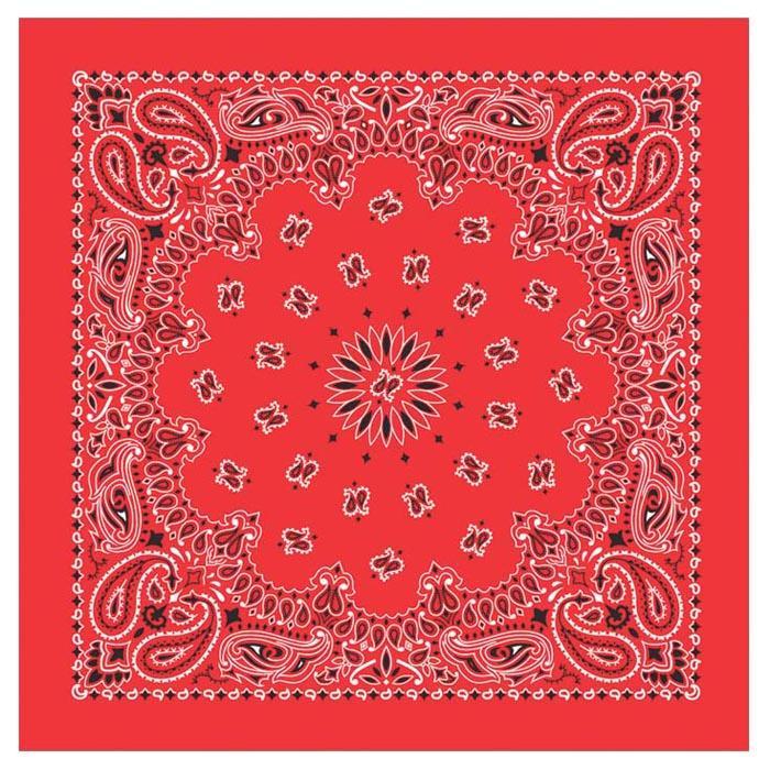 Carolina Creative Traditional Paisley Bandanna Red