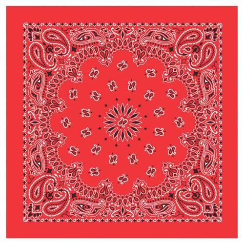 Carolina Creative Traditional Paisley Bandanna Red