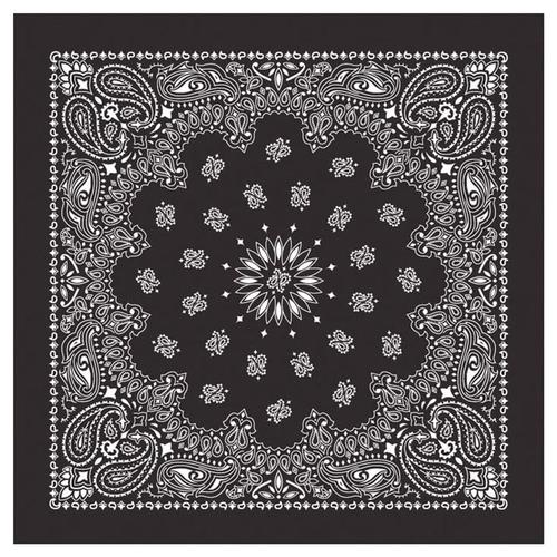 Carolina Creative Traditional Paisley Bandanna Black