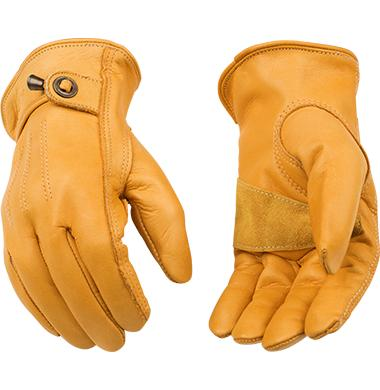 Kinco Unlined Grain Cowhide Driver Glove with Pull Strap