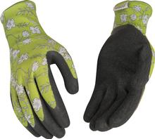 Kinco Women's Latex Gripping Gloves GREY/LIME