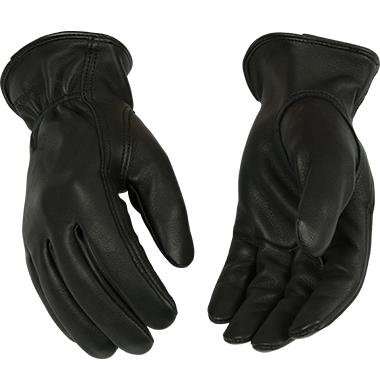 Kinco Lined Black Grain Deerskin Driver Glove