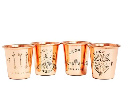 United by Blue Copper Shot in the Dark Shot Glasses