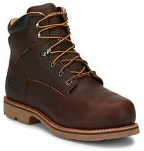 Chippewa Men's Serious Plus Waterproof 6in Comp Toe Met Guard Puncture Resisting Work Book BROWN