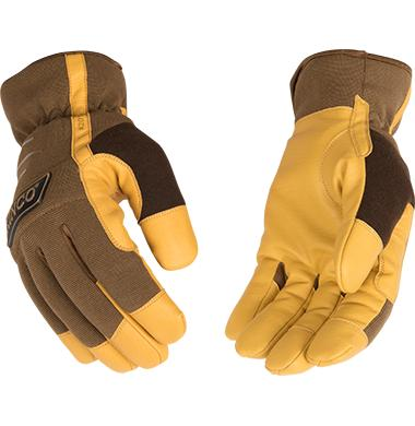 Kinco KincoPro Lined Brown Synthetic HeatKeep Driver Glove