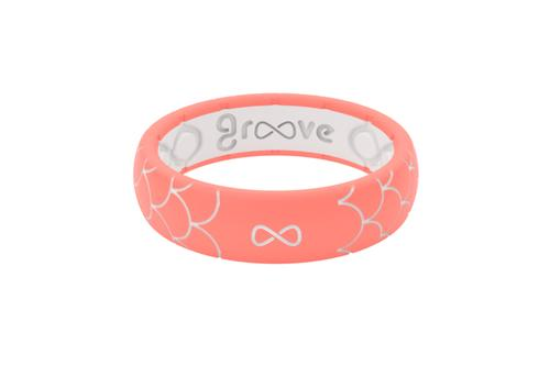 Groove Thin Dimension Coral Scales Ring