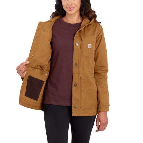 Carhartt Women's Rugged Flex Canvas Hooded Coat