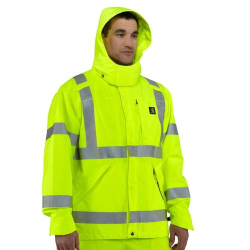 Carhartt Men's Hi Vis Class 3 Waterproof Jacket