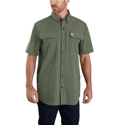 Carhartt Force Relaxed Fit Lightweight Short Sleeve Button Front Plaid Shirt