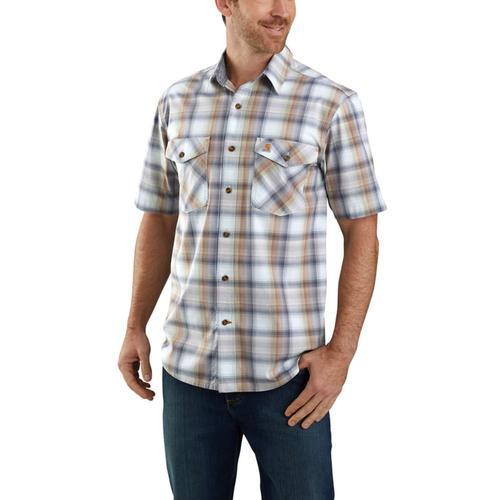 Carhartt Rugged Flex Relaxed Fit Lightweight Short Sleeve Button Front Plaid Shirt