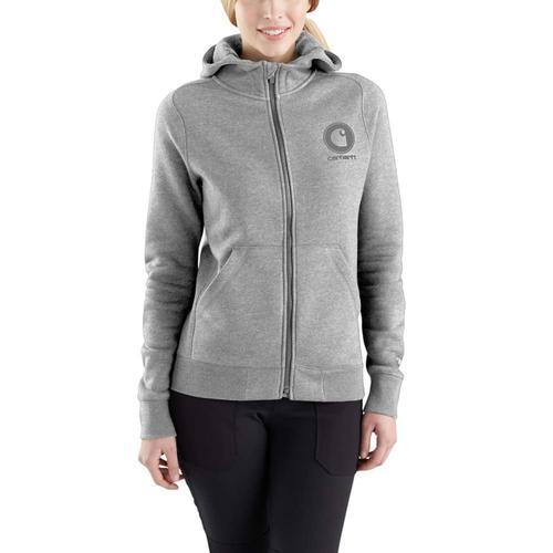 Carhartt Women's Force Delmond Graphic Zip Front Hooded Sweatshirt