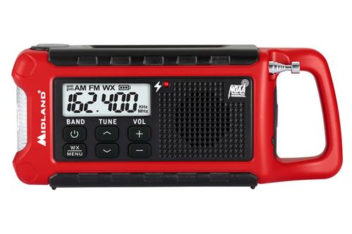 Midland Radio ER210 E+Ready Compact Emergency Crank Weather Alert Radio