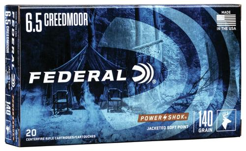 Federal Ammunition PowerShok Rifle 6.5 Creedmoor