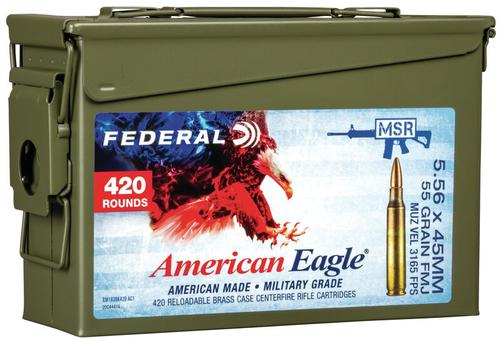 Federal Ammunition American Eagle Training 5.56x45mm 420ct Can