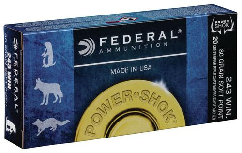 Federal Ammunition PowerShok Rifle 243 Win