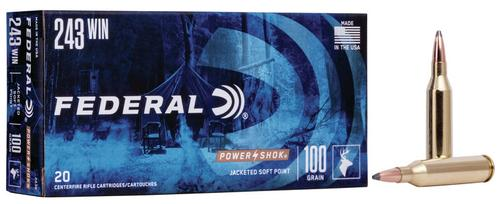 Federal Ammunition PowerShok Rifle 243 Win 100gr