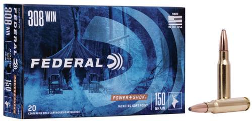 Federal Ammunition PowerShok Rifle 308 Win 150gr