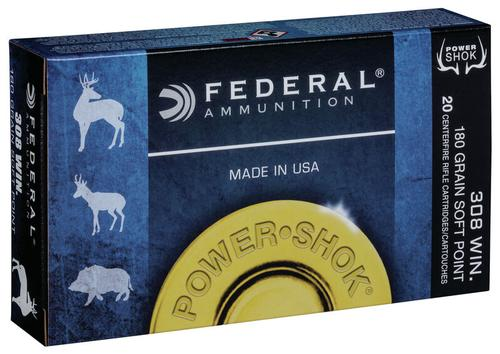 Federal Ammunition PowerShok Rifle 308 Win 180gr