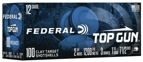 Federal Ammunition Top Gun 12 Gauge Target Shot Shells Size 7.5