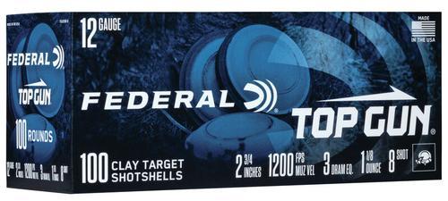 Federal Ammunition Top Gun 12 Gauge Target Shot Shells Size 8