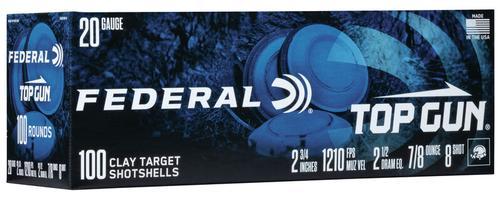 Federal Ammunition Top Gun 20 Gauge Target Shot Shells Size 8