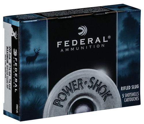 Federal Ammunition PowerShok Rifled SLug 20 Gauge
