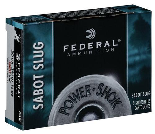 Federal Ammunition PowerShok Sabot Slug 20 Gauge